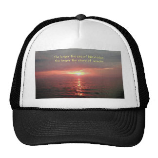 Beautiful Ocean Sunrise Inspirational Quote Trucker Hat