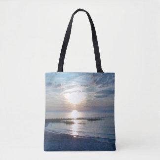 Beautiful Ocean Sunset Photo Tote Beach Bag