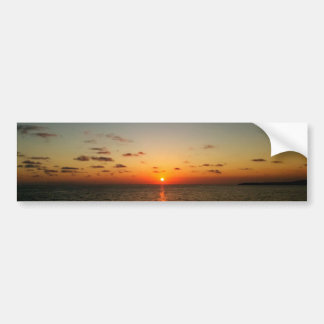 beautiful ocean sunset yellow orange red bumper sticker