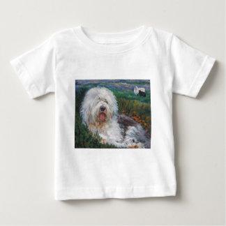 Beautiful Old English Sheepdog Dog Art Painting Baby T-Shirt