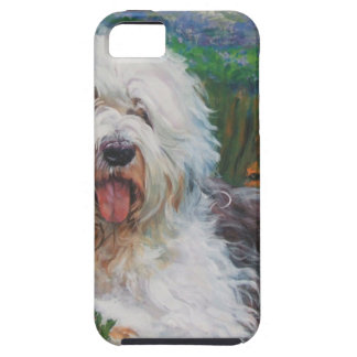 Beautiful Old English Sheepdog Dog Art Painting Case For The iPhone 5