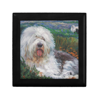 Beautiful Old English Sheepdog Dog Art Painting Gift Box