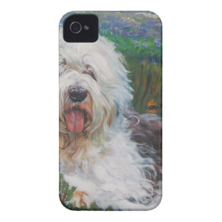 Beautiful Old English Sheepdog Dog Art Painting iPhone 4 Case