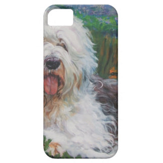 Beautiful Old English Sheepdog Dog Art Painting iPhone 5 Cover