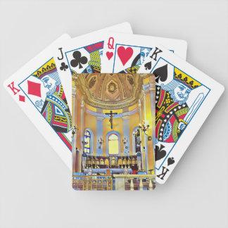 Beautiful Old San Juan Artistic Sanctuary Bicycle Playing Cards