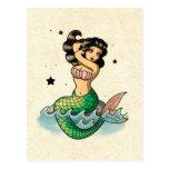 Beautiful Old School Mermaid Post Card