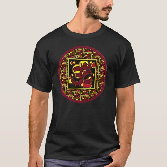 Beautiful Om Aum Symbol w/Circles and Squares T-Shirt