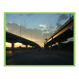 Beautiful Omaha Expressway With Two Side Bridges A Postcard