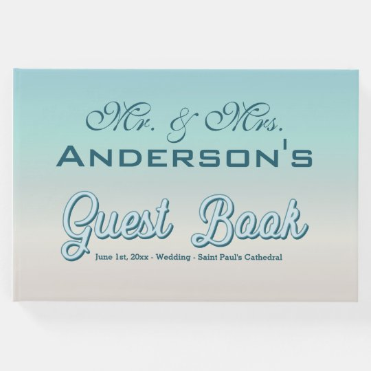 Beautiful Ombre Colour Wedding Event Guest Book