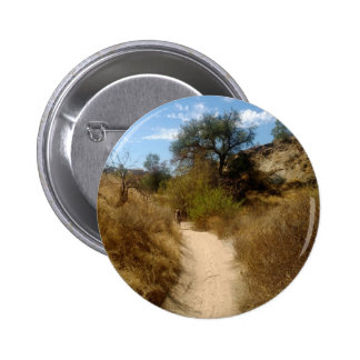 Beautiful Open Hiking Trail in the Dry Brush 2 Inch Round Button