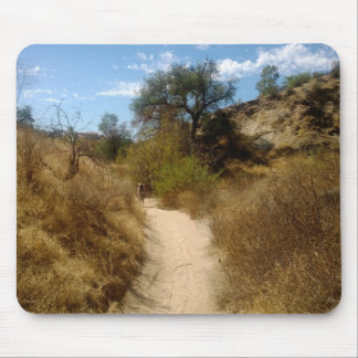 Beautiful Open Hiking Trail in the Dry Brush Mouse Pad