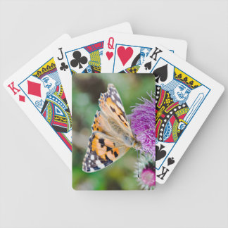 Beautiful Orange and Black Butterfly Bicycle Playing Cards