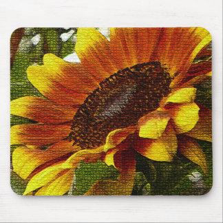 Beautiful Orange and Yellow Sunflower Mousepad