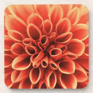 Beautiful Orange Dahlia Flower Coaster