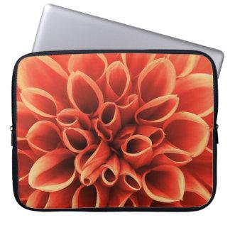 Beautiful Orange Dahlia Flower Laptop Sleeve