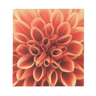 Beautiful Orange Dahlia Flower Notepads
