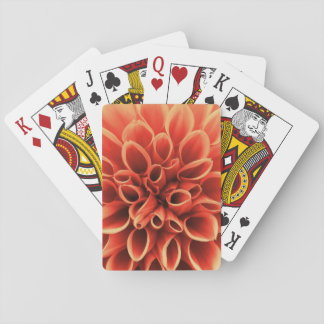 Beautiful Orange Dahlia Flower Playing Cards