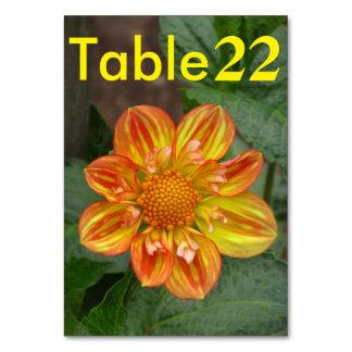 Beautiful Orange Dalia Flower Table Card