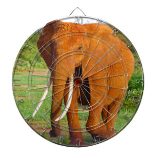 Beautiful Orange Elephant Dartboard