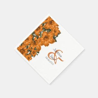 Beautiful Orange Lilies Paper Napkin
