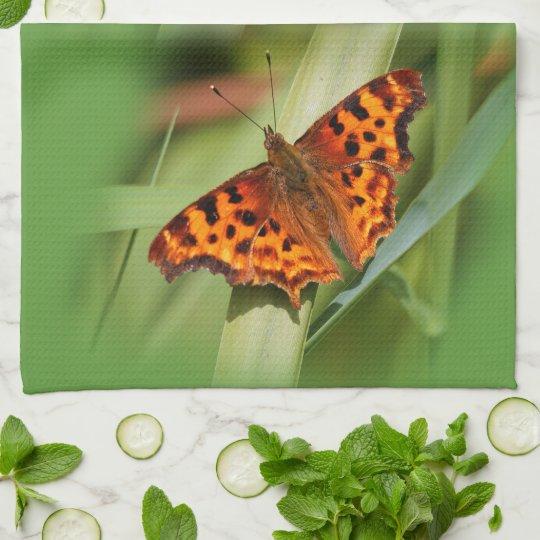Beautiful Orange Satyr Comma Butterfly Towel