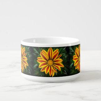 Beautiful Orange Sun Flower Photo Bowl