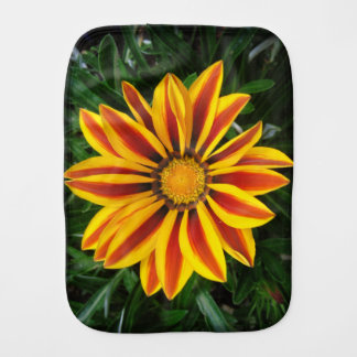 Beautiful Orange Sun Flower Photo Burp Cloth