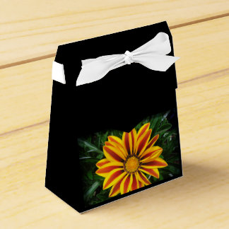 Beautiful Orange Sun Flower Photo Favor Box