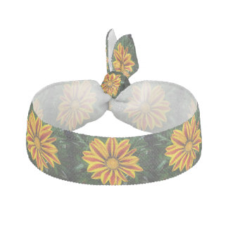 Beautiful Orange Sun Flower Photo Hair Tie