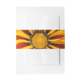 Beautiful Orange Sun Flower Photo Invitation Belly Band