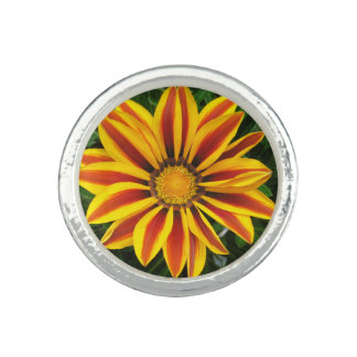 Beautiful Orange Sun Flower Photo Photo Ring