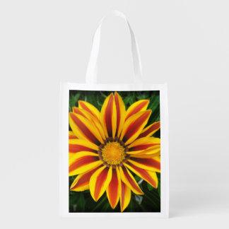 Beautiful Orange Sun Flower Photo Reusable Grocery Bag