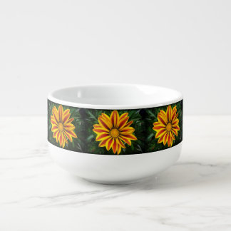 Beautiful Orange Sun Flower Photo Soup Mug