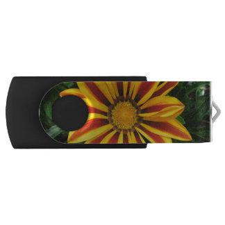 Beautiful Orange Sun Flower Photo Swivel USB 2.0 Flash Drive