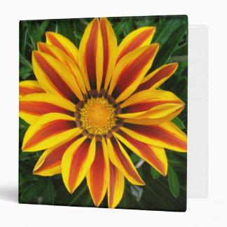 Beautiful Orange Sun Flower Photo Vinyl Binders