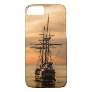 Beautiful Orange Sunset Age of Sail iPhone 8/7 Case