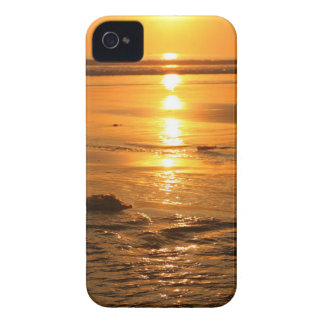 Beautiful orange sunset at the beach in Bali iPhone 4 Covers