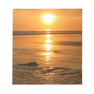Beautiful orange sunset at the beach in Bali Notepad