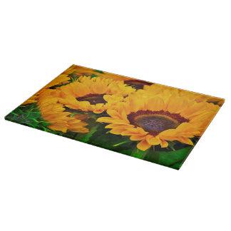 Beautiful Orange Yellow Sunflower Painting Cutting Board