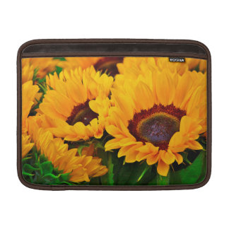 Beautiful Orange Yellow Sunflower Painting MacBook Sleeve