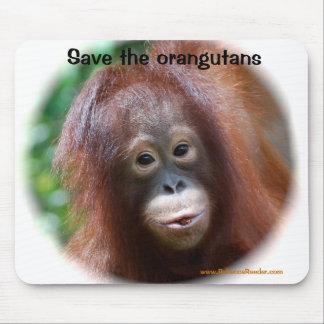 Beautiful Orangutan baby Mouse Pad