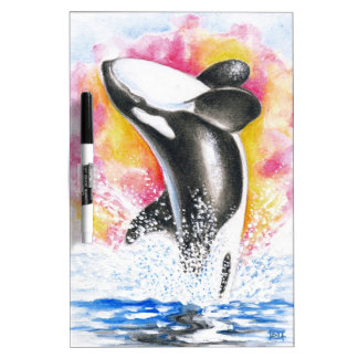 Beautiful Orca Whale Breaching Dry-Erase Board