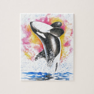 Beautiful Orca Whale Breaching Puzzles