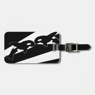 Beautiful Orcas Luggage Tag