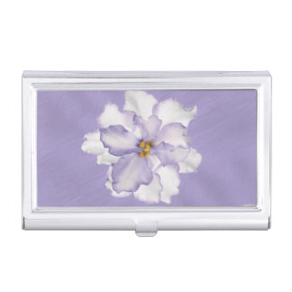 Beautiful Orchid Lavender Business Card Holder