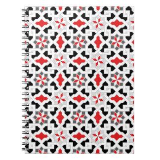 Beautiful oriental flower pattern 1 spiral notebook