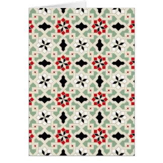 Beautiful oriental flower pattern 2 card