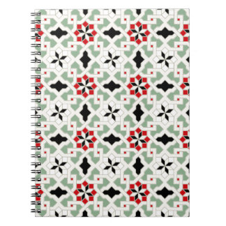 Beautiful oriental flower pattern 2 spiral notebook