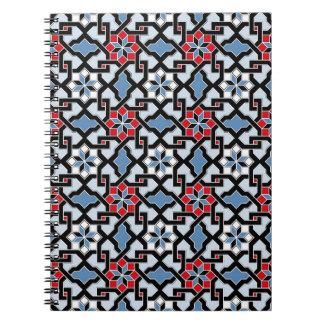 Beautiful oriental flower pattern 4 note books