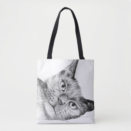 Beautiful original cat design tote bag